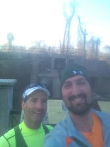 Doug Landau & Zachary Horowitz ran the 2014 DCRRC Fort Hunt Park 10 km.