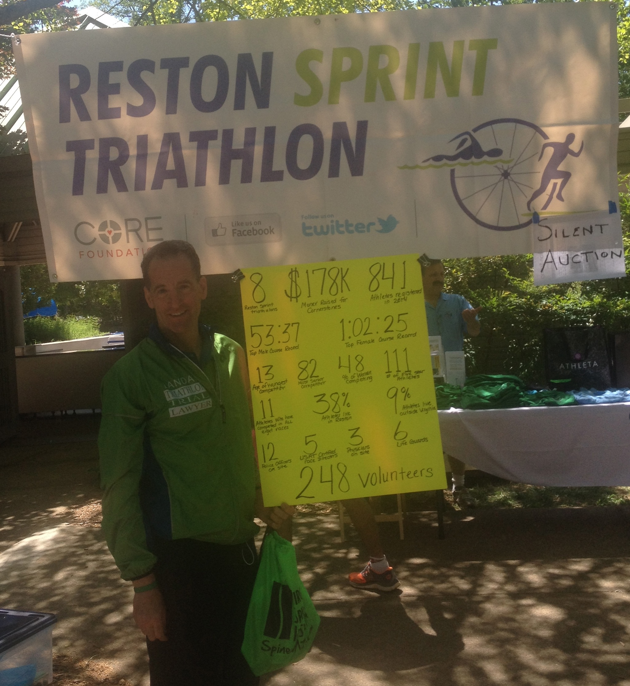 What the Reston Sprint Triathlon does for local charity and the economy is quite impressive. The Race Committee deserves a lot of credit for putting on such a fun annual charitable event.