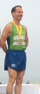"Herndon Virginia injury lawyer Doug Landau finishes his 2014 Triathlon season on the podium once again at the Hermosa Beach California ""Day at the Beach"" sprint race"