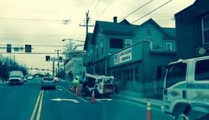 Road Construction in front of Abrams Landau in Herndon VA