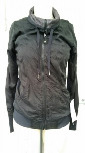 Lululemon tops like this one are the subject of a recall. Hard tips on the draw cord can snap the wearer in the face.