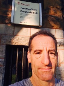"""Sometimes insurance policy language seems to be written in a foreign language,"" notes Prince William County accident lawyer Doug Landau, shown in front of McGill University Law School during the morning run before his injury law speech at the American Association for Justice annual convention"