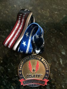 Adding to his collection of awards from Triathlons, DUathlons & road races, Doug Landau won his age group at the Potomac Valley Games & South East Masters Track & Field Championships.