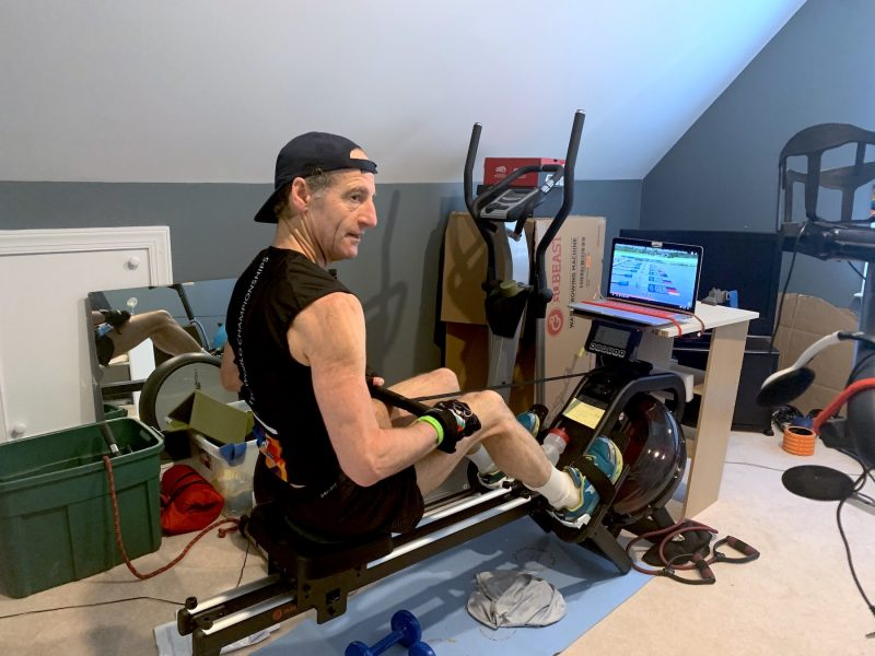 Doug working out