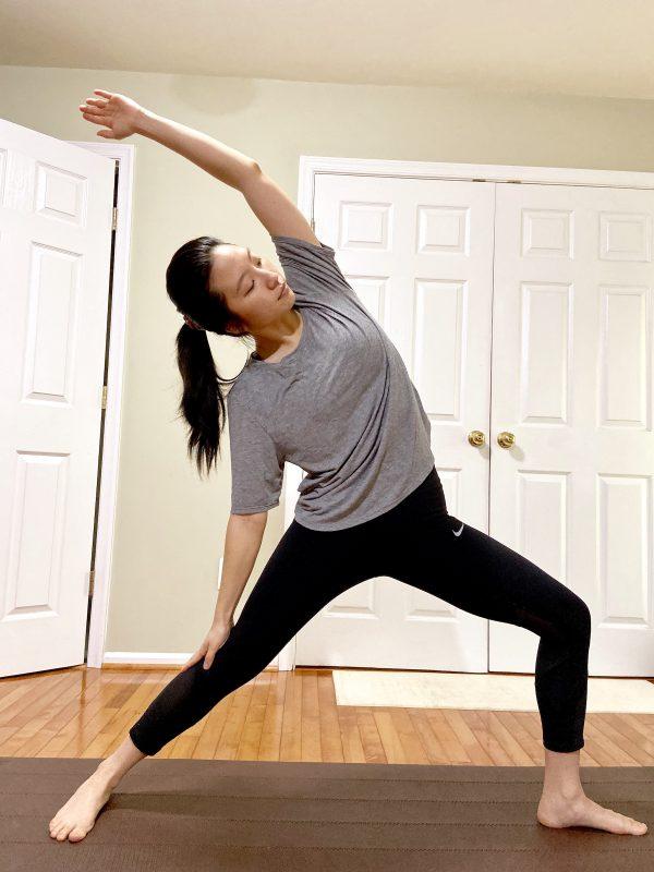 Stephanie doing yoga