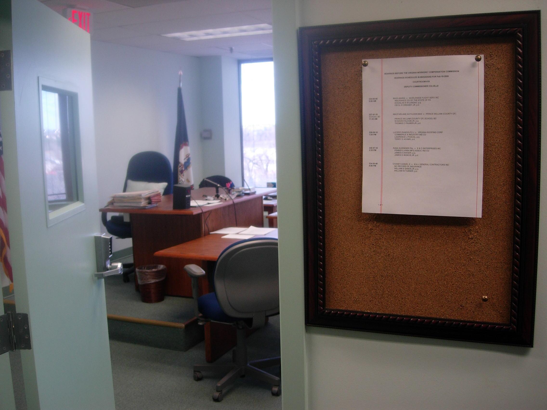 VWC Hearing Room Manassas Abrams Landau case.JPG