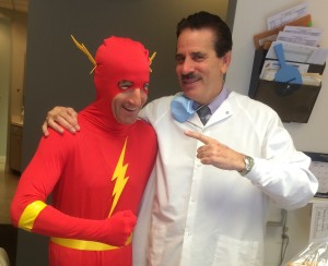 """Doug """"The Flash"""" Landau & Dr. Gary Greenspan, DDS, of Fair Oaks Virginia agree that getting good results as quickly as possible, is important for mental, physical and dental health !"""