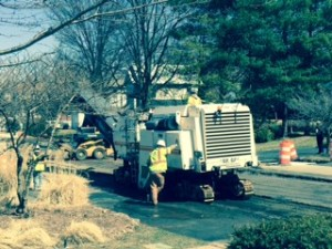 Road construction in Herndon VA, in front of Abrams Landau Law Office