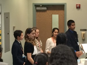 Students on the Rachel Carson Middle School We the People team were outstanding competitors and placed among the top 3 teams at the competition held at George Mason University on April 19, 2015.