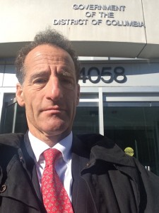 In yet another ruling limiting injured workers' benefits, the DC Court of Appeals agrees with the DC Comp Compensation's ruling against disabled employees. DC comp lawyer Doug Landau is shown here after arguing a case before the DC Dept. of Employments Services' Office of Workers Compensation