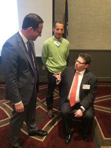 Virginia Trial Lawyers Association seminar participants David Haynes, Doug Landau & Jonathon Halpern (seated) know the importance of correctly setting the amount sued for in a Virginia personal injury case.