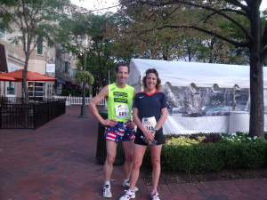 Anita Freres, who trains with HPC and races Doug Landau in the indoor Compu Trainer classes in Herndon, ran 20 minutes and was a top finisher