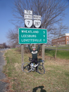 Virginia Cyclists heading West from Fairfax, , Prince WIlliam and Loudoun heading toward Leesburg, Sterling and Lovettesville need the protection of sensible traffic laws