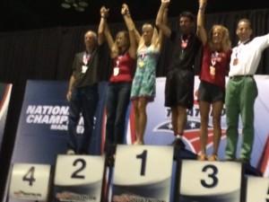 Doug Landau on far left, with the other Sprint Duathlon National Championship age group winners in St. Paul, Minnesota