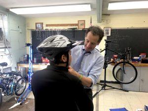 Herndon Middle School Bike Shop Lids on Kids