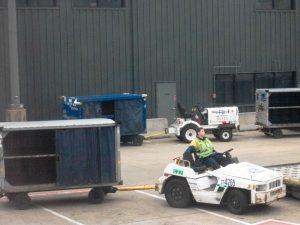 airport luggage tug