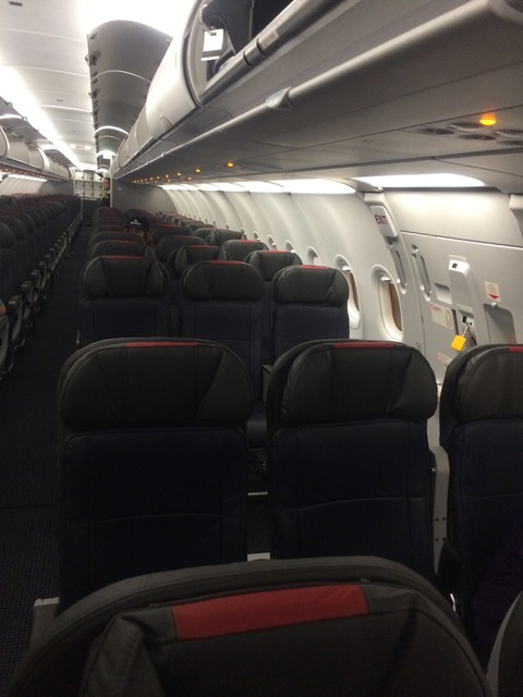 empty airplane seats